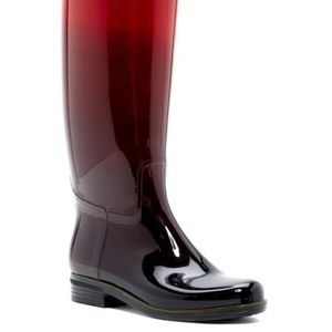 Dav Bristol Ombre Red Rainboot in Size 10